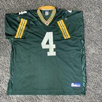 Brett Favre #4 Green Bay Packers Reebok Jersey NFL Equipment On Field Size 4XL