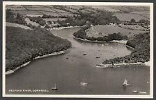 Postcard Helford River nr Falmouth Cornwall aerial view RP