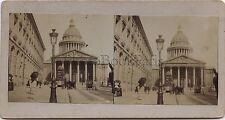 Panthéon Paris Stéréo Vintage albumine ca 1880