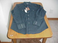 NEW MEN'S XL X-LARGE LS WRANGLER WESTERN BUTTON-FRONT SHIRT (MTW1389)