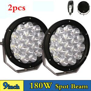 "2x9""inch 180W LED Work Light Spot Driving Lamp 4WD SUV Truck ATV UTV Offroad"
