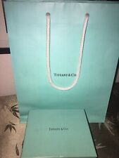 Tiffany & Co Pewter Round Jewelry Trinket Holder With Box And Bag