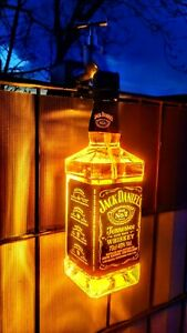 Laterne Lampe  Weihnachts  Wand Leuchte Design Jack Daniels Flasche Zaunpfosten