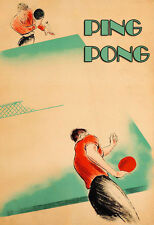 Ping Pong Table Tennis  Sport  Poster Print
