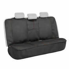 Motor Trend Waterproof Universal Rear Bench Seat Cover for Car, Red Stitching