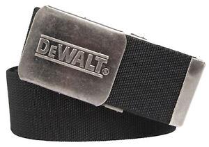 DeWalt black belt - adjustable stretch woven work trouser belt