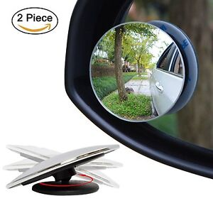 2Pcs Stick On Rear-View Blind Spot Convex Wide Angle Mirrors For Car Motorcycle