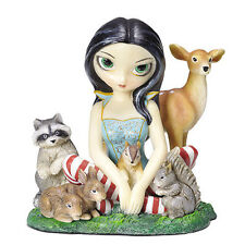 New JASMINE BECKET GRIFFITH Fairy Figurine SNOW WHITE Statue DEER BUNNY RACCOON
