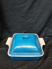 """New listing Le Creuset """" Marseille """" 9 inch Square baker W/Lid"""