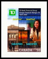 CANADA 2005 CANADIAN TD BANK FINANCIAL GROUP FV FACE 50 CENT MNH BOOKLET STAMP