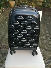LULU GUINNESS Small Cabin Lightweight Black SUITCASE Used once overnight. Excel