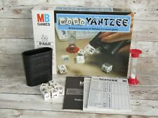 MB Games Word Yahtzee  Complete with 7 Letter Dice Score Pads Sandtimer