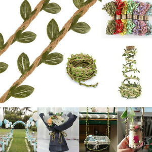 Artificial Vine Fake Leaf  Rustic Jungle Vines with Twine Wedding Home Decor