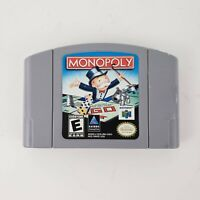MONOPOLY Nintendo 64 N64 Game Tested + Working & Authentic!