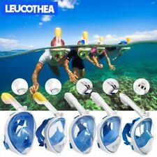 LEUCOTHEA Anti-Fog Full Face Mask Swimming Diving Google Snorkel Scuba For GoPro