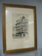 "Litho- Estampe numérotée signée  Strasbourg  "" La maison Kammerzeil ""."