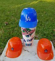 Mini Plastic Baseball Hat Helmet Ice Cream Cup LA Dodgers Plus 1988 ICEE ...