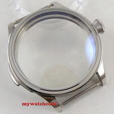 44mm PARNIS 316L watch CASE fit eta 6498 6497 hand winding eat movement C161