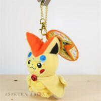 Pokemon Center Tohoku Poncho Pikachu Series Victini ver. Plush Mascot Keychain
