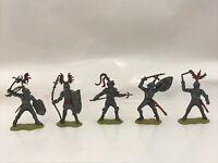 SOLDATINI 7,5 cm CROMOPLASTO Xiloplasto Landi MEDIEVALI GOMMA CAVALIERI Knights