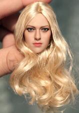 Pelle pallida testa intaglio 1//6 Donna SCALA ymtoys lunghi capelli TESTA SCULTURA TESTA modello