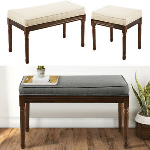 Modern Wood Dresser Stool Padded Bench Seat Kitchen Chair Footstool Footrest UK