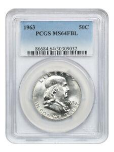1963 50c PCGS MS64 FBL - Franklin Half Dollar