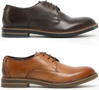 Base London WAYNE Mens Genuine Leather Burnished Lace Up Smart Derby Shoes