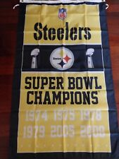 Pittsburgh Steelers 3x5 Super Bowl Champions Flag. Free shipping within the US