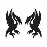 Pair of Dragons - Vinyl Decal Sticker - Multiple Color & Sizes - ebn222