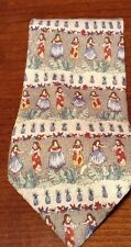 HULA GIRLS THEMED TROPICALS BY TANGO 100% SILK NECKTIE MADE IN USA