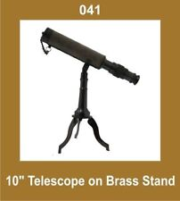 New 10 Inch Telescope on Brass Tripod Stand Nautical Collectible GEc