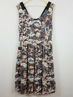 [ CITY CHIC ] Womens Printed Lace Fit & Flare Dress  | Size XS or AU 14 - 16