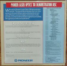 PIONEER Laserdisc Demo Laser Optics '88 Demonstration & MusicVideo Sampler V2 LD