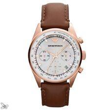 EMPORIO ARMANI ar5996 Reloj De Mujer Cuero natural color: marrón/ORO ROJO