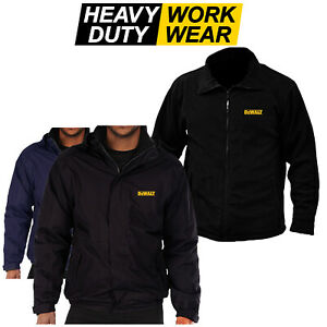 DEWALT Yellow Logo Embroidered Fleece or Waterproof Jacket Work Wear Power Tool