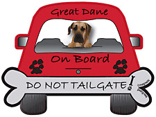 Great Dane -  Dog on Board Magnet Sign