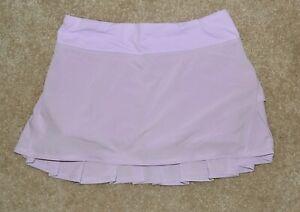 Lululemon Run Pace Setter Skirt Skort Purple Ruffle Pleated Tennis Golf Sz 4