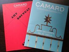 Lot de 2 catalogues de vente Camard Art Deco Nouveau Design 20th century 2