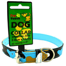 Camo Style Tarnung Hundehalsband Halsbänd Mittel - Blau/Weiß