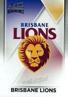 ✺Mint✺ 2019 BRISBANE LIONS AFL Card CLUB LOGO Dominance