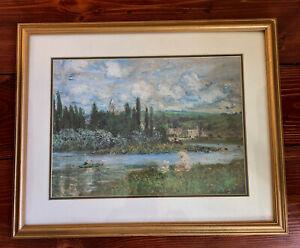 Claude Monet - Vétheuil Sur Seine - 1880 - Frame reproduction print, cropped