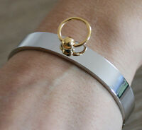 BDSM Edelstahl Armreif der O Fetisch Schmuck Armband Ring gothik Bicolor - neu