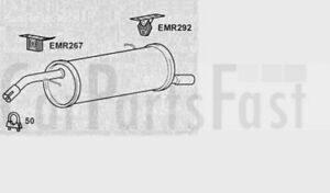 Exhaust Rear Back Box Citroen C3 1.6 Petrol Hatchback 04/2002 to 08/2010