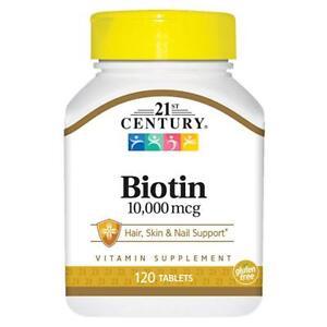 21st Century Biotin 10000 mcg Tablets 120 count -Expiration Date 06-2023