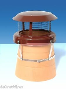 Colt High Top Chimney Pot Cowl - Bird Guard - Solid Fuel only - CT47