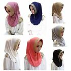 Women Shine Printed Cosy Muslim Ladies Pearl Scarf Hijab Islamic Shawl Headscarf