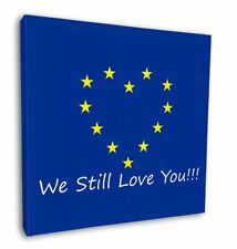 "British Brexit, Europe 'We Still Love You' 12""x12"" Wall Art Canva, BRITISH-4-C12"