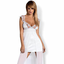 Tenue de Soirée Robe Feelia Blanc Taille S/M - OBSESSIVE