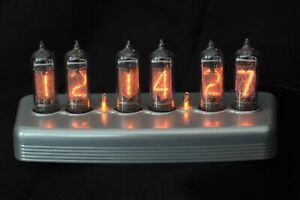 REAL NIXIE Nixie Clock in polished anodized billet aluminum enclosure IN14 tubes